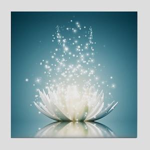 White Lotus Magic Tile Coaster