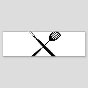 bbq cross Bumper Sticker
