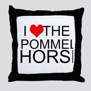 I Love The Pommel Horse Throw Pillow