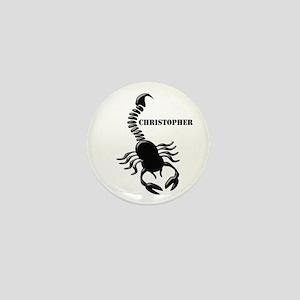 Personalized Black Scorpion Mini Button