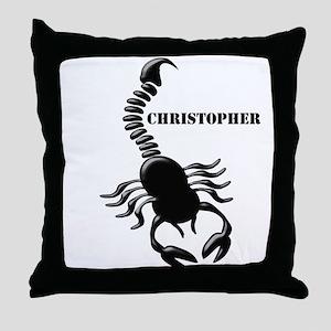 Personalized Black Scorpion Throw Pillow
