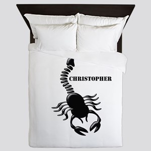 Personalized Black Scorpion Queen Duvet