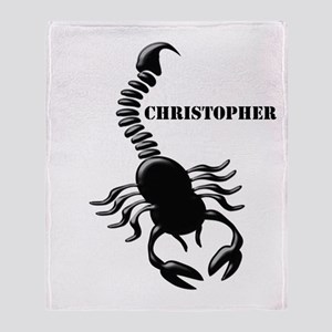 Personalized Black Scorpion Throw Blanket