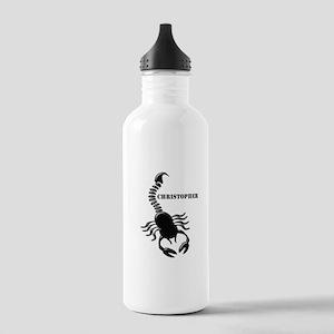 Personalized Black Scorpion Sports Water Bottle