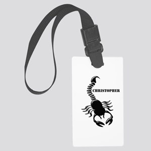 Personalized Black Scorpion Large Luggage Tag