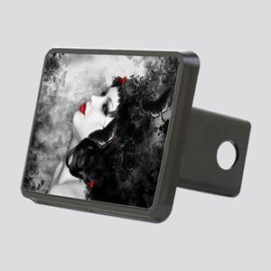 Black Rose Fantasy Rectangular Hitch Cover