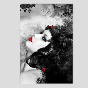 Black Rose Fantasy Postcards (Package of 8)