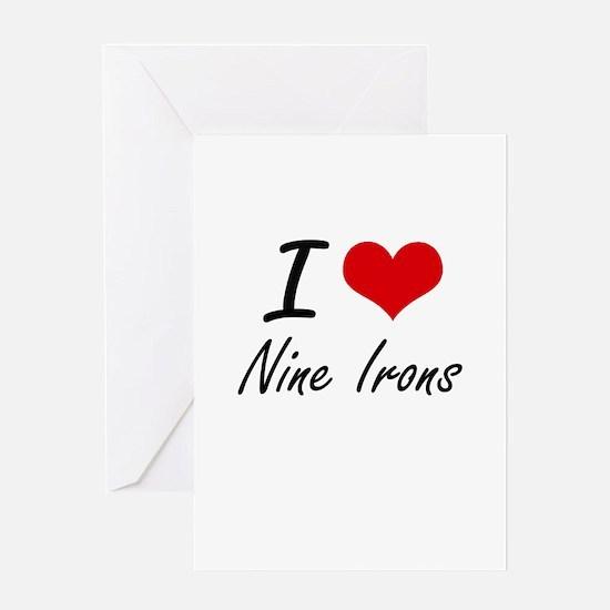I love Nine Irons Greeting Cards