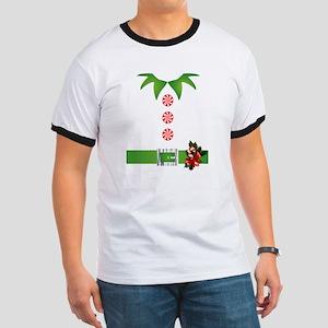 funny christmas elf  Ringer T