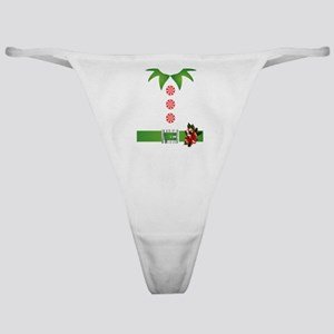 funny christmas elf  Classic Thong