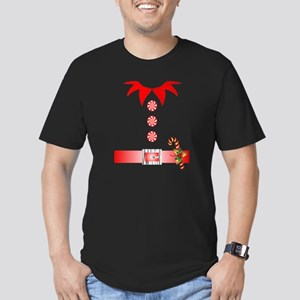funny christmas elf  Men's Fitted T-Shirt (dark)