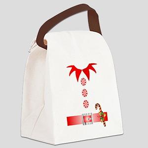 funny christmas elf  Canvas Lunch Bag