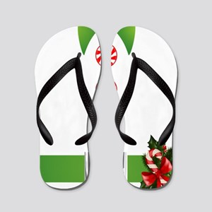 cda7ee2d45fe Ugly Christmas Flip Flops - CafePress