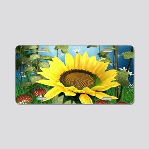 Sunflowers Aluminum License Plate