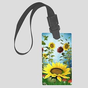Sunflowers Large Luggage Tag