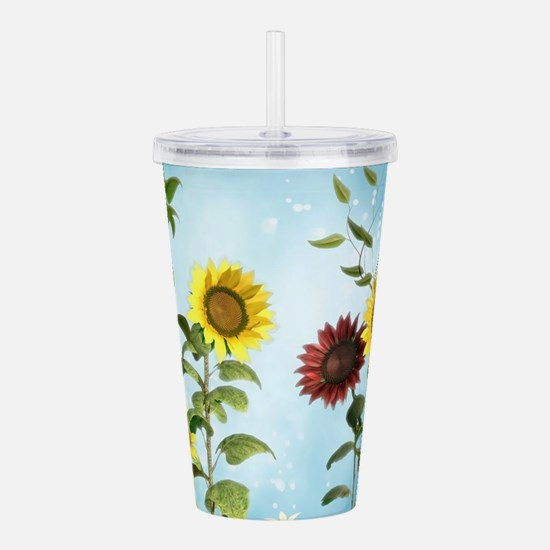 Sunflowers Acrylic Double-wall Tumbler