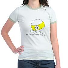 Funny 9 Ball Spot Jr. Ringer T-Shirt