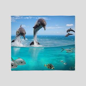 Marine Wildlife Throw Blanket