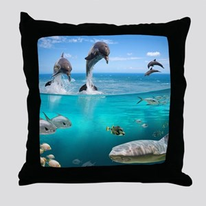 Marine Wildlife Throw Pillow