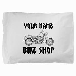 Custom Bike Shop Pillow Sham