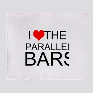 I Love The Parallel Bars Throw Blanket