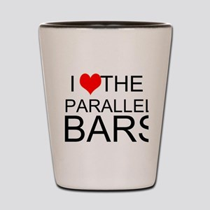 I Love The Parallel Bars Shot Glass