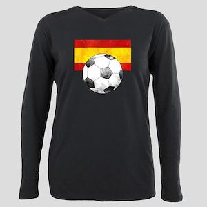 Spain Futbol Plus Size Long Sleeve Tee