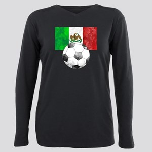 Mexico Futbol Plus Size Long Sleeve Tee