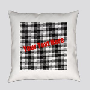 Custom Houndstooth Everyday Pillow