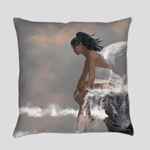 Water Angel Everyday Pillow