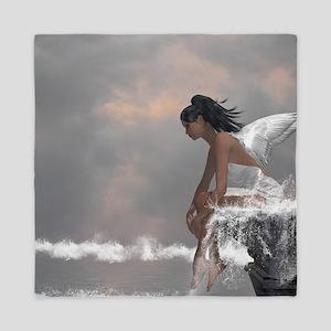 Water Angel Queen Duvet