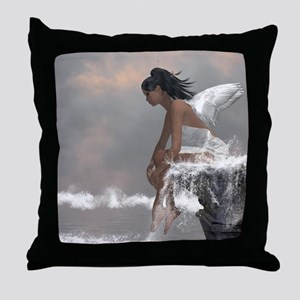 Water Angel Throw Pillow