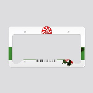 funny christmas elf License Plate Holder