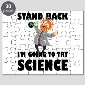 Stand Back I'm Going To Try Science Puzzle