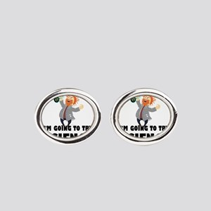 Stand Back I'm Going To Try Science Oval Cufflinks