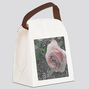 Silver Lining Canvas Lunch Bag