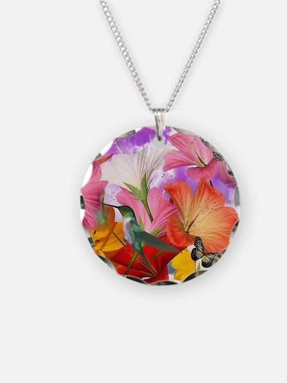Hibiscus Butterflies Necklace