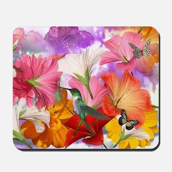 Hibiscus Butterflies Mousepad