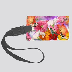 Hibiscus Butterflies Large Luggage Tag