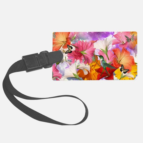 Hibiscus Butterflies Luggage Tag