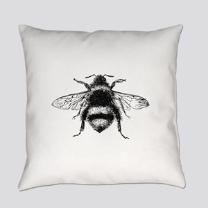 Vintage Honey Bee Everyday Pillow