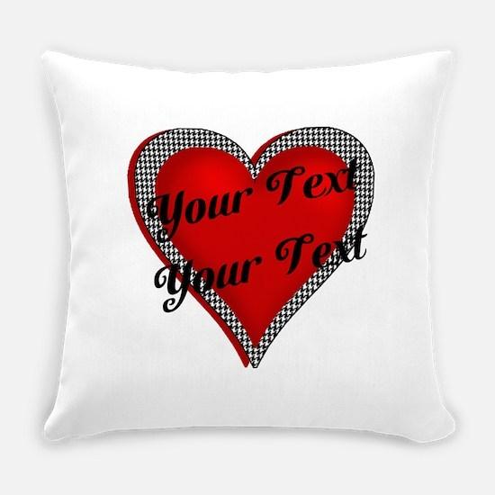 Crimson Heart Everyday Pillow