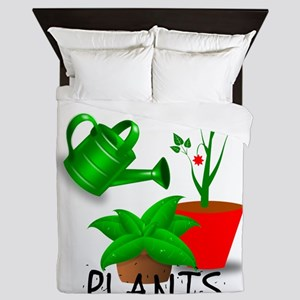 Sometimes I Wet My Plants Queen Duvet