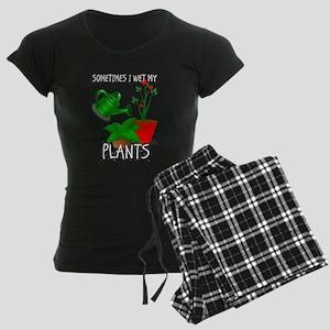 Sometimes I Wet My Plants Women's Dark Pajamas