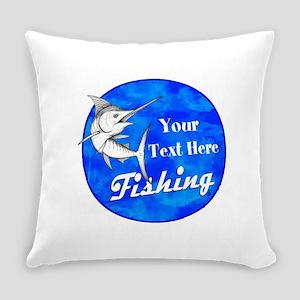Custom fishing Everyday Pillow