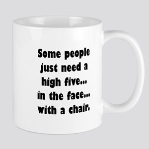 Some people just need a high five...in the fa Mugs