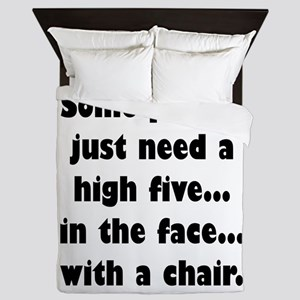 Some people just need a high five...in Queen Duvet