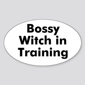 Bossy Witch in Training Oval Sticker
