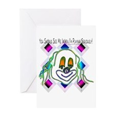 8 Ball Billiard Clown Greeting Card