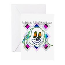 8 Ball Billiard Clown Greeting Cards (Pk of 10)